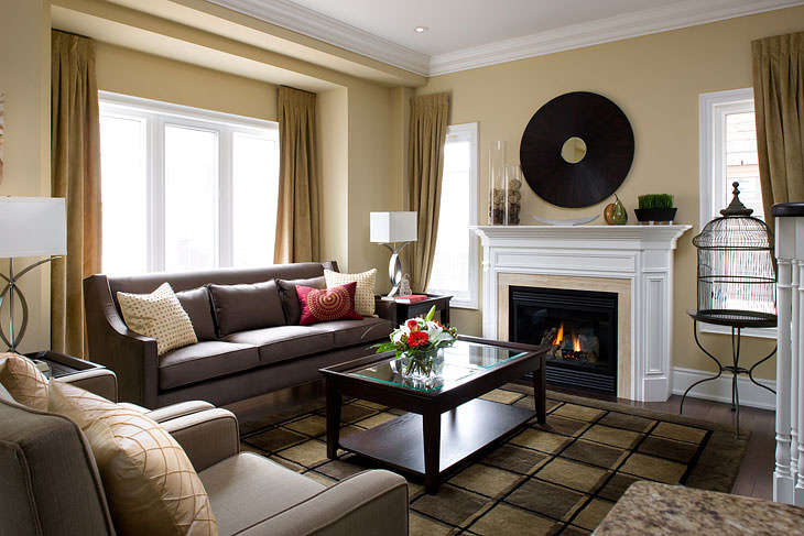classic_style_living cappuccino_color_living_room elegant_living_room cappuccino_interior_living_room living_room_interior_ideas - American Living Room Design
