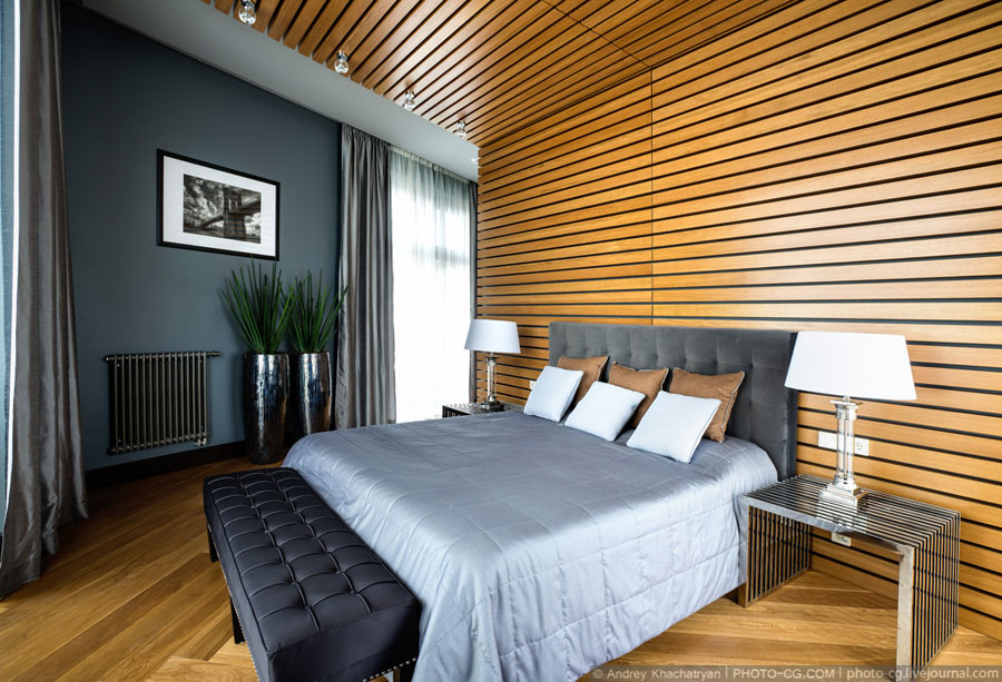 awesome wood decor for luxury bedroom