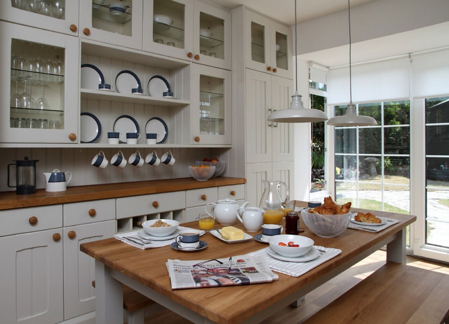 classic house kitchen in white