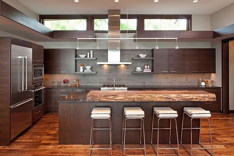 large kitchen design for luxury house