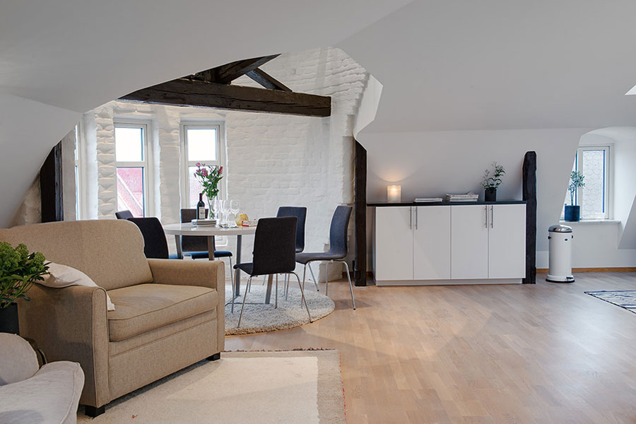 Scandinavian Loft Apartment With Awesome Floor Plan In