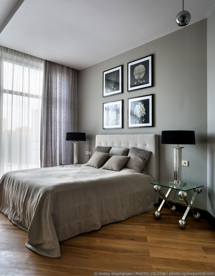 master bedroom for luxury  apartment moscow