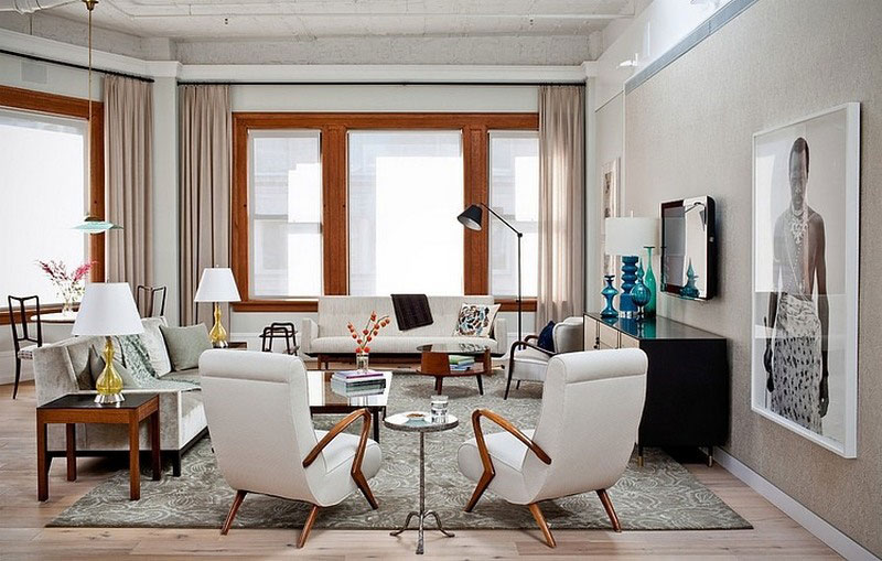 Elegant eclectic style apartment in manhattan new york for New york style interior