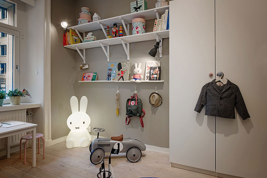 scandinavian kids room interior