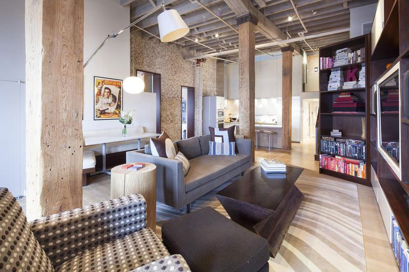 Urban Style Apartment Interior With Brick And Wood Part 65