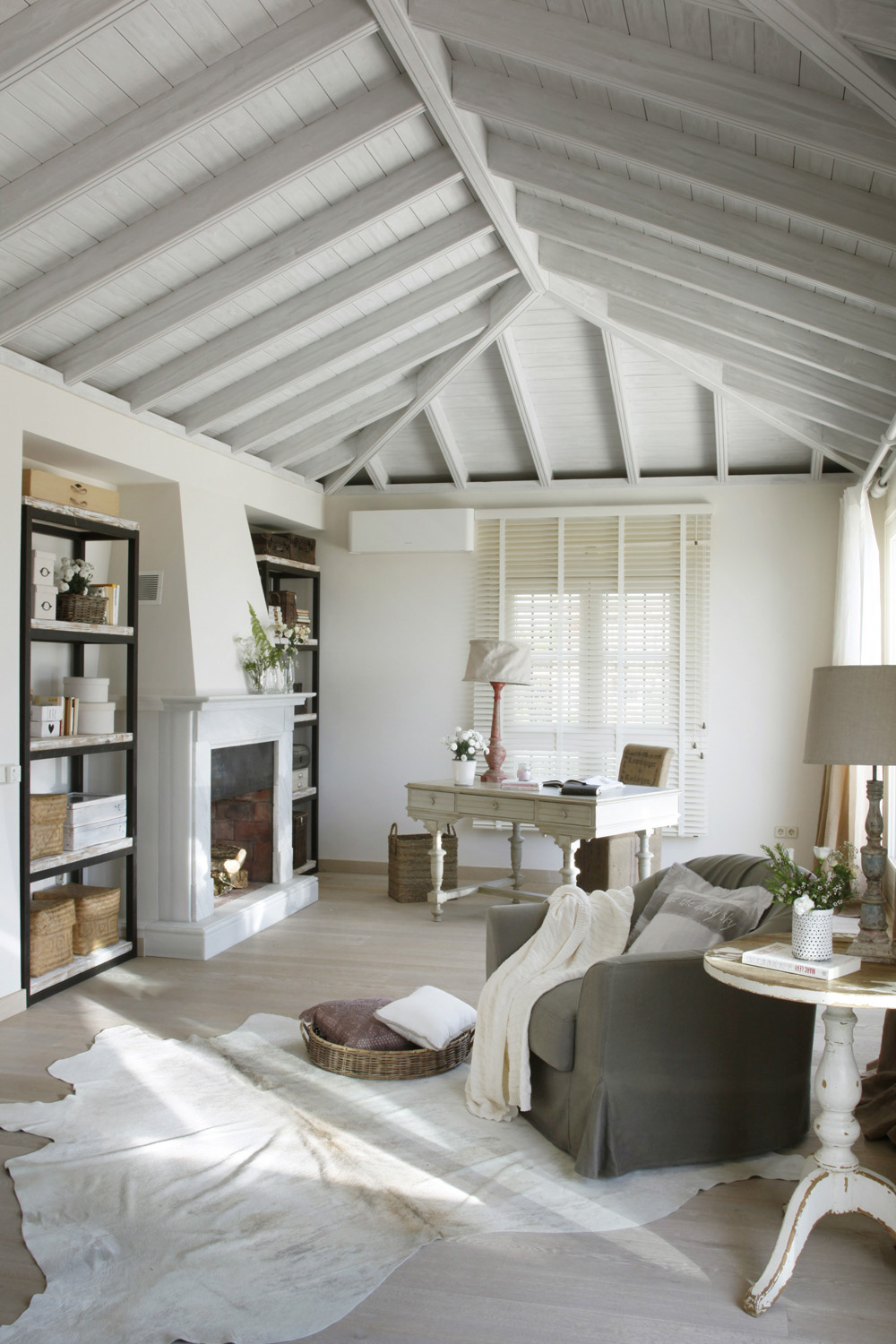white and beige home interiors