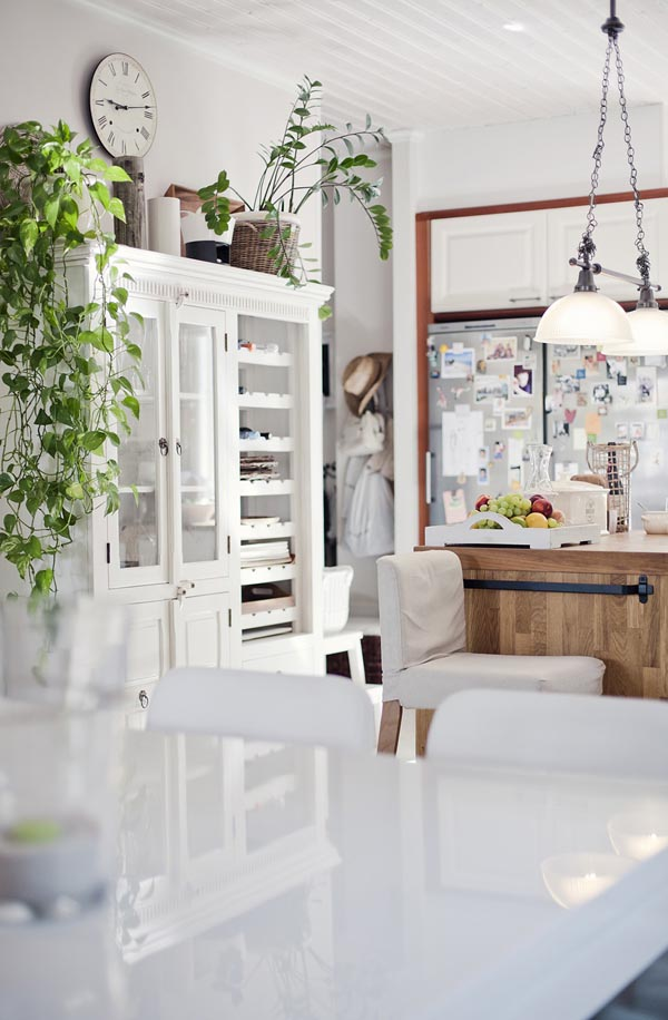 white kitchen house interior