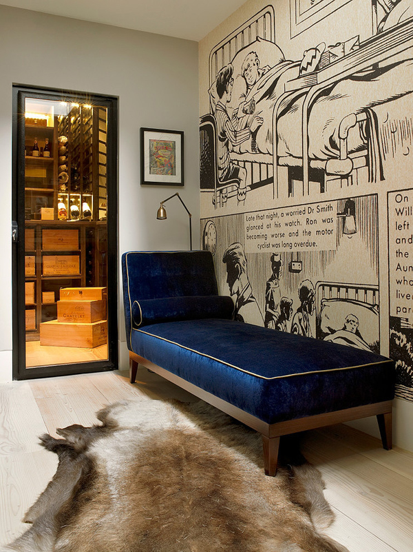 eclectic living space in London
