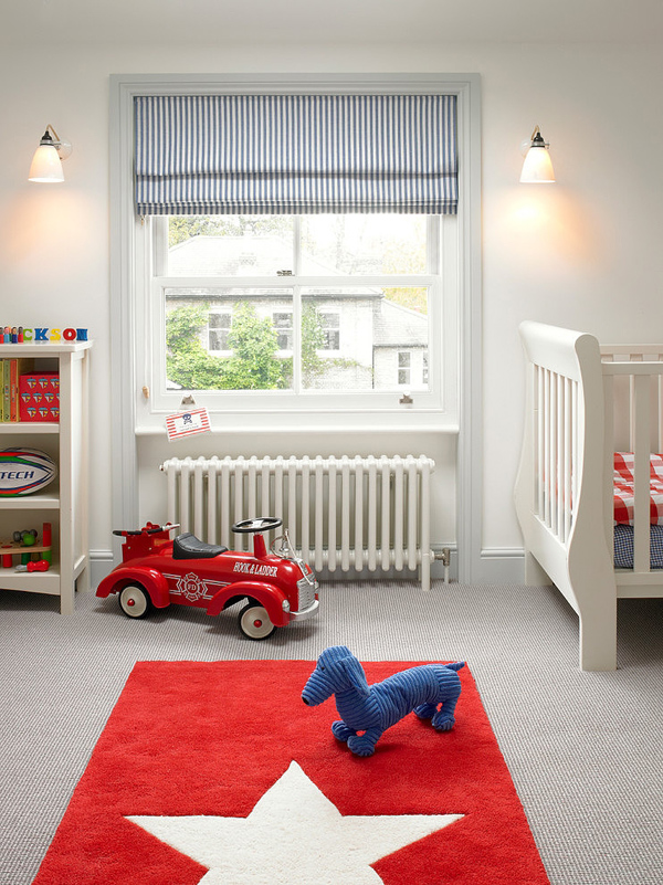 kids room with classic furniture