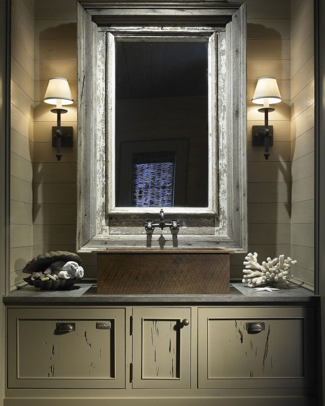 rustic bathroom design for house South Carolina