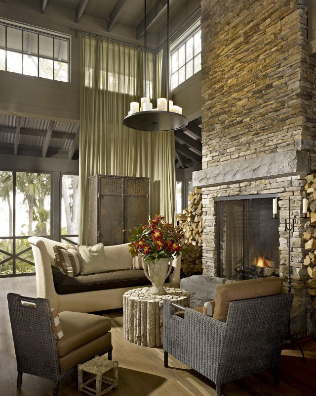 rustic style house interior combined with classic
