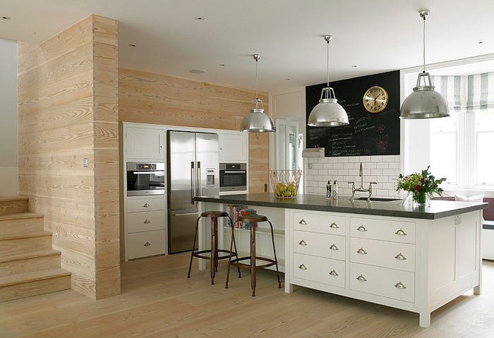 wood wall kitchen with classic kitchen furniture