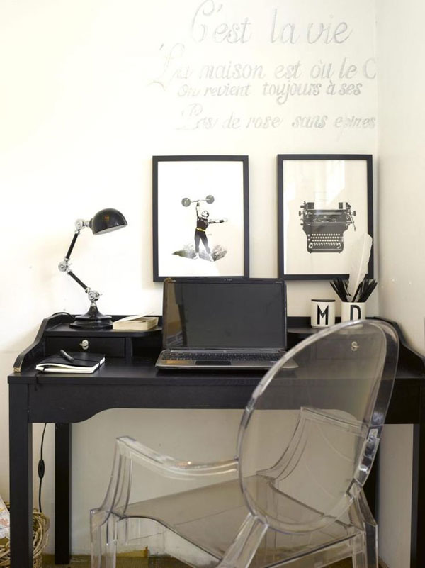 classic with modern home office