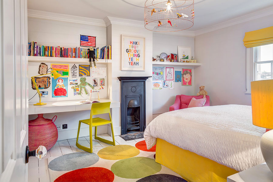 colorful kids room for house in London