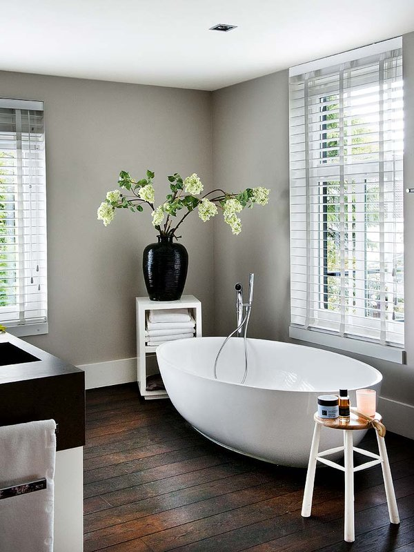 cream white bathroom design