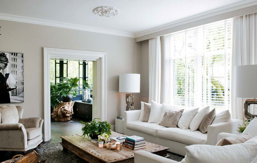 cream white living room interior