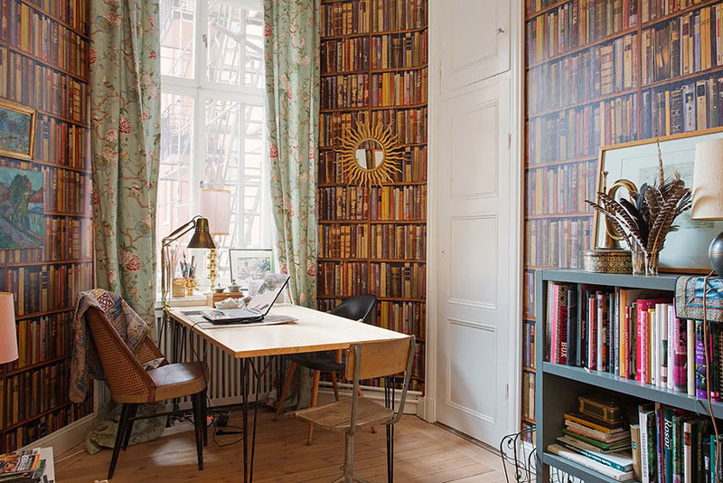 home office with eccentric design