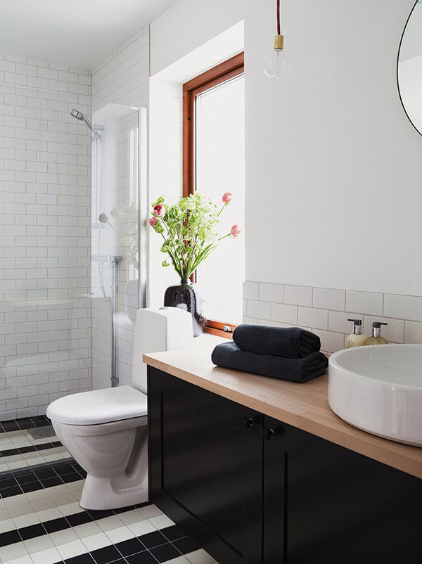 scandinavian style bathroom design