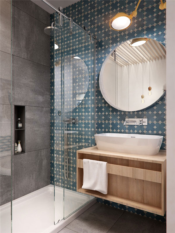 shower room for apartment