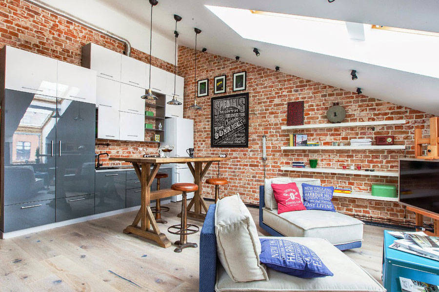 Small loft apartment with creative interior design Small loft apartment design
