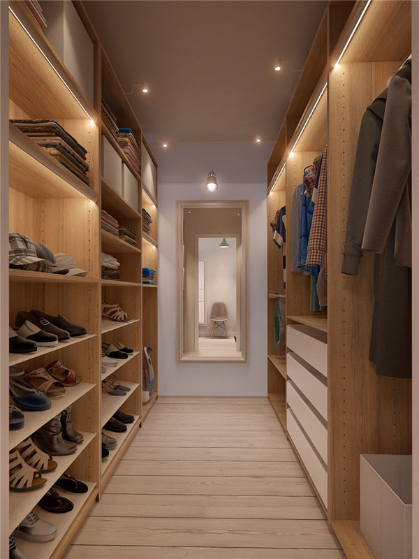 walk-in closet design for apartment