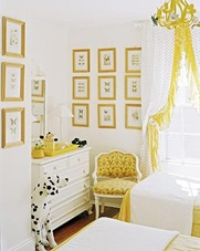 baby nursery in white with yellow color accents