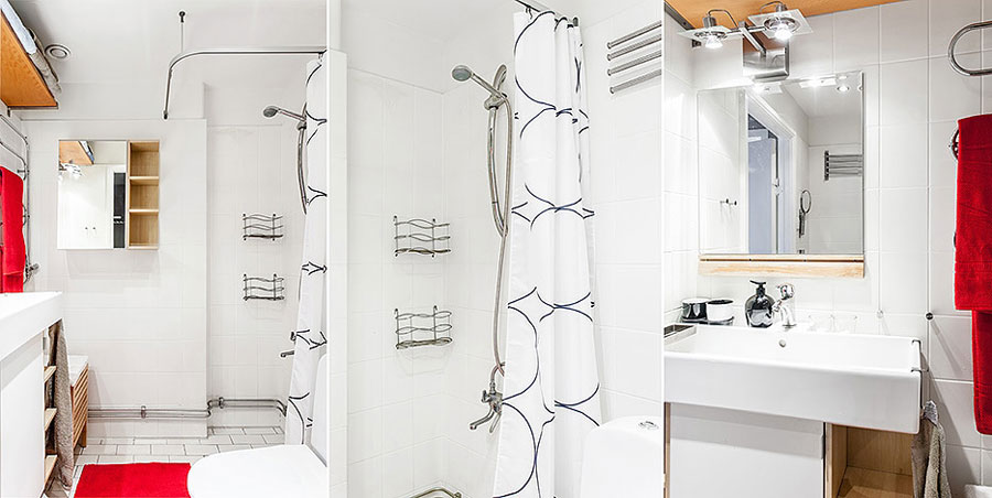 bathroom design for swedish style apartment