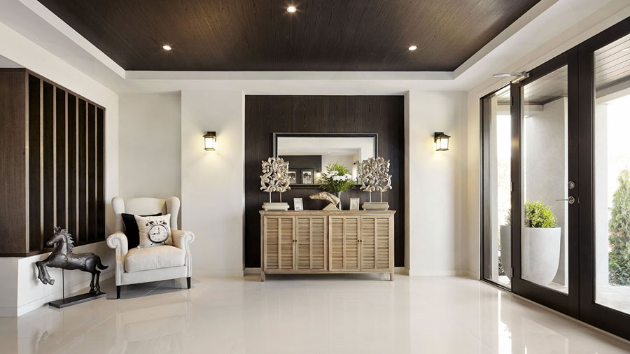 Visualization For Family House With Cream Color Interior