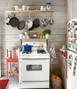 ideas how to organize pots and pans on small kitchen