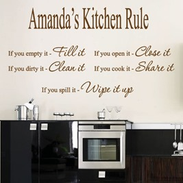 kitchen wall sticker design
