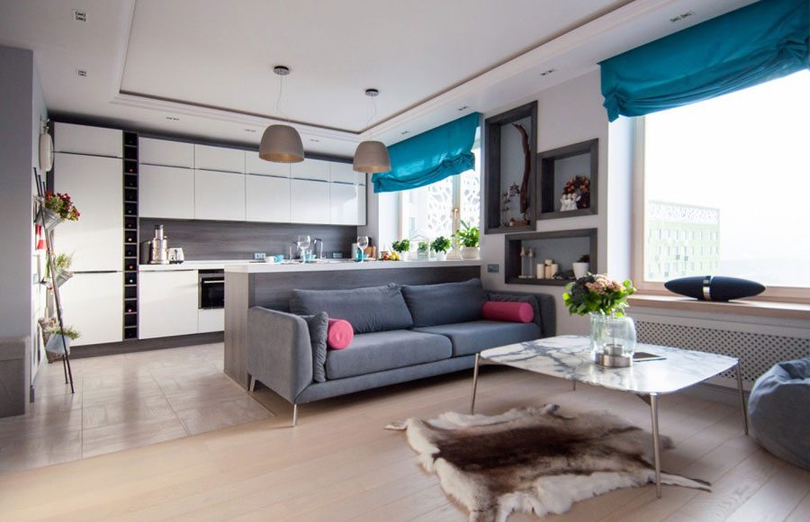modern interior design for apartment by Olga Gorbunova