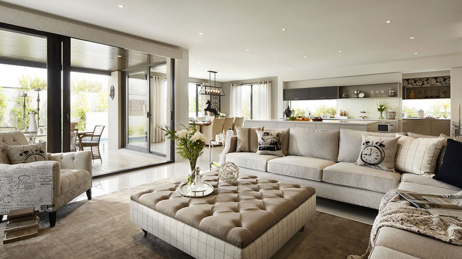 Warm and elegent norwegian interior design by krista hartmann for Show home living room designs