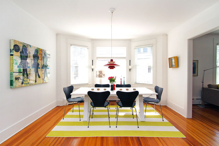 practical examples to create striped interior design