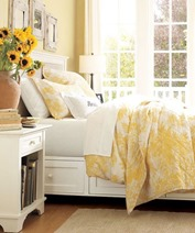 sunny yellow color bedroom interior design