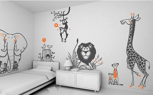 Perfect ... Vinyl Stickers For Wall In Kids Room Part 16