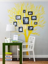 yellow wall sticker ideas for home