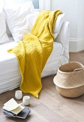 yellow with white interior design