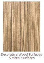 SIBU decorative wood surfaces and metal surfaces