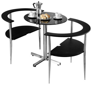 6 super small dining sets for small spaces available on for Small dining table with 4 chairs