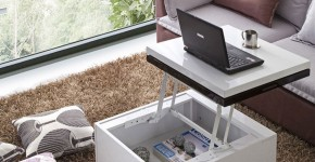compact-high-gloss-white-black-coffee-table-to-desk-5-900x900
