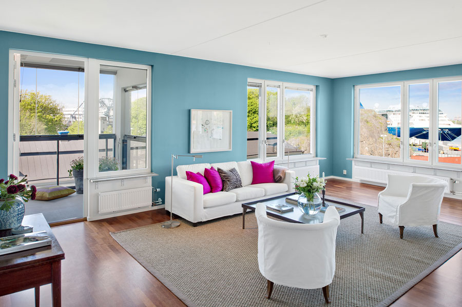 blue interior design