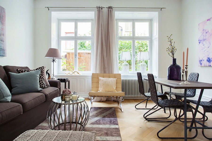 Swedish Style small 45 m2 swedish style apartment with eye catching details