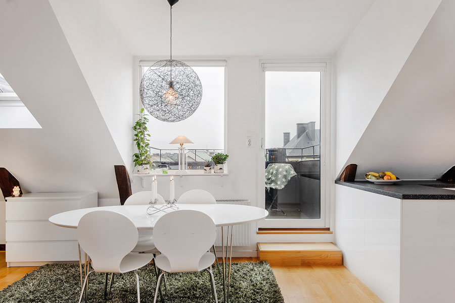 white loft apartment interior