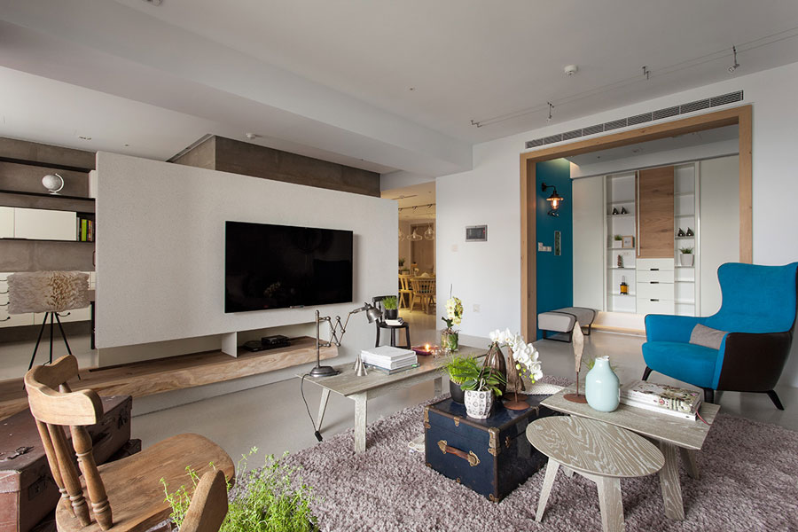 modern and classic eclectic style apartment
