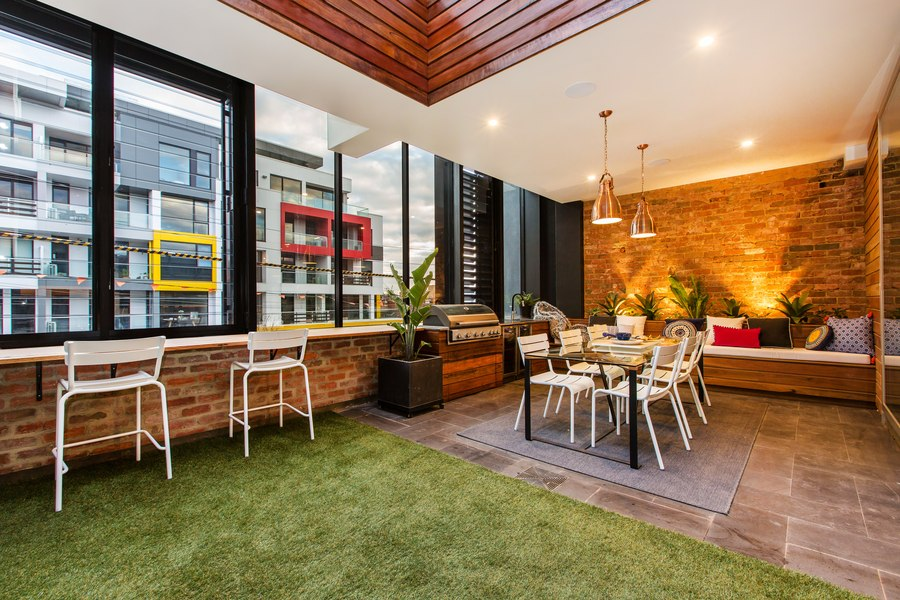 apartment with brick wall in melbourne australia
