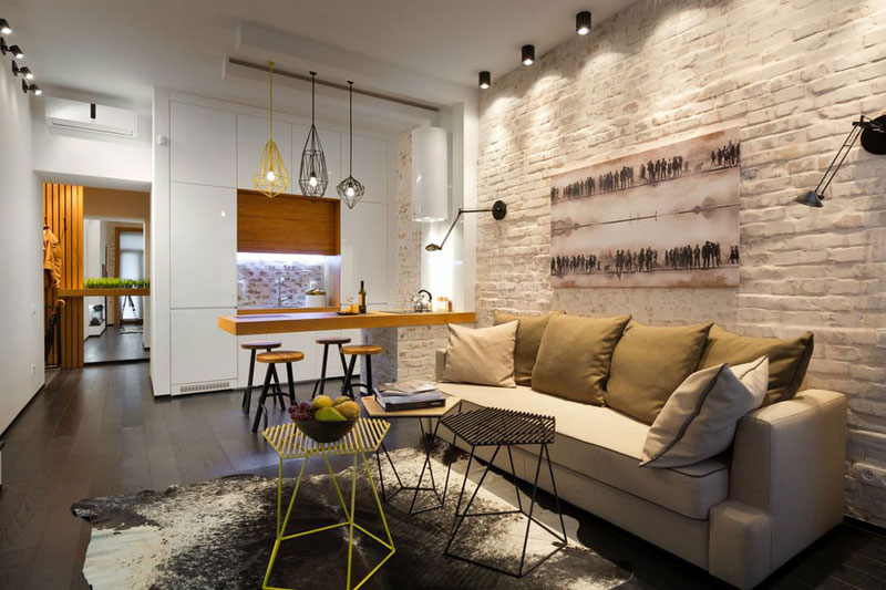 Awesome Interior Design With Brick Wall