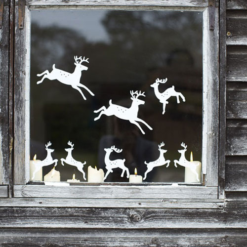 window decorations for christmas