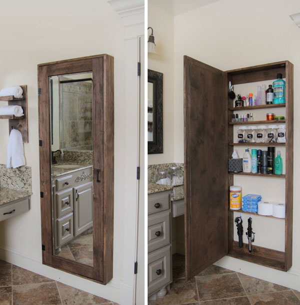 38 functional small bathroom storage ideas for Bathroom shelving ideas for small spaces