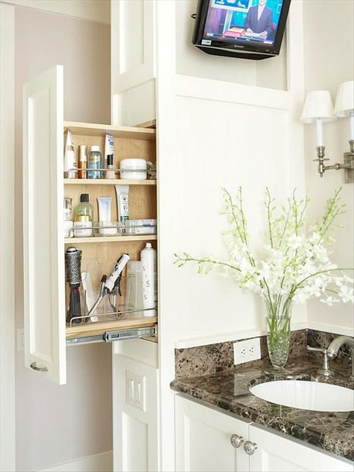small bathroom storage ideas.  38 Functional Small Bathroom Storage Ideas