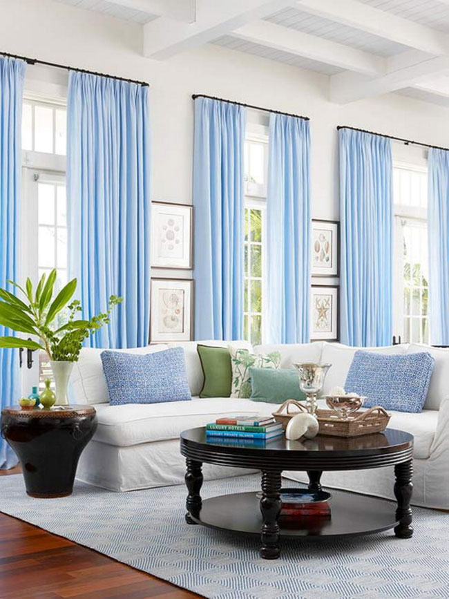how to beautifully hang extra long curtains